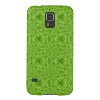 Grünes abstraktes hölzernes Muster Galaxy S5 Hülle