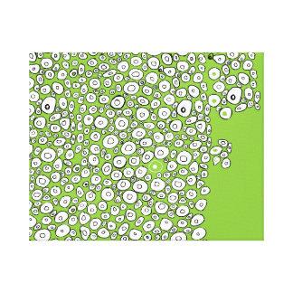 Grünes abstraktes leinwanddruck