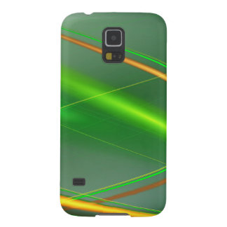 Grünes abstraktes Sammlungsthema 1 Samsung S5 Hülle