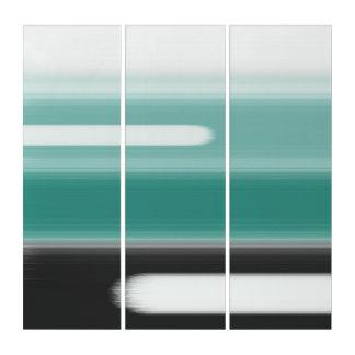 Grünes abstraktes triptychon