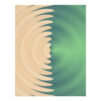 Grünes abstraktes Wellen-Sahnemuster Flyer Druck