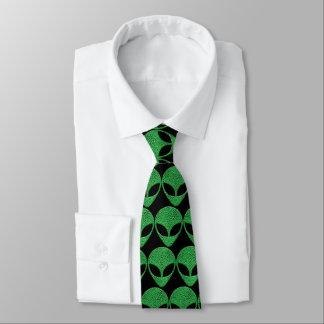 Grünes alien-Eidechsen-Geschöpf Krawatte