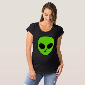 Grünes alien schwangerschafts T-Shirt