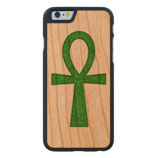 Grünes Ankh Carved® iPhone 6 Hülle Kirsche