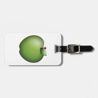 Grünes Apple - Emoji Kofferanhänger