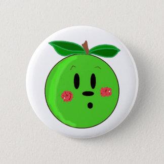 Grünes Apple stellen gegenüber Runder Button 5,1 Cm