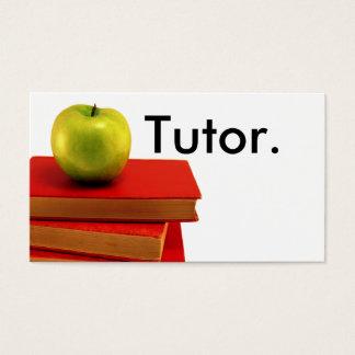 Grünes Apple u. Buch-Tutor Visitenkarte