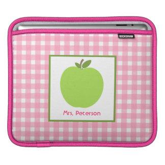 Grünes Apple u. rosa Gingham-Lehrer iPad Hülse Sleeves Für iPads