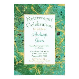 Grünes aquamarines Goldabstrakte 12,7 X 17,8 Cm Einladungskarte