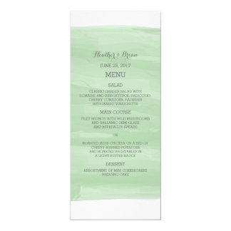 Grünes Aquarell-Hochzeits-Menü 10,2 X 23,5 Cm Einladungskarte