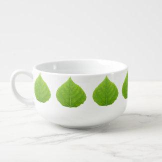 Grünes Aspen-Blatt #11 Große Suppentasse