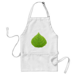 Grünes Aspen-Blatt #11 Schürze