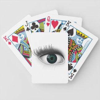 Grünes Auge Bicycle Spielkarten