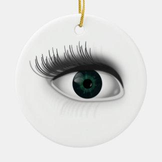 Grünes Auge Keramik Ornament