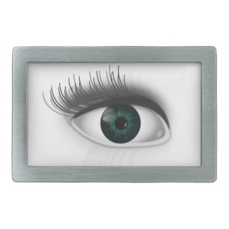 Grünes Auge Rechteckige Gürtelschnallen