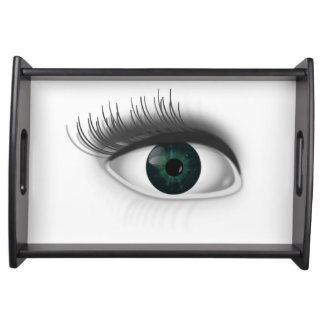 Grünes Auge Serviertablett
