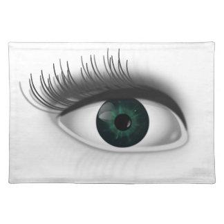 Grünes Auge Tischset