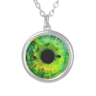 Grünes Augen-hängender Halsketten-drittes Halskette Mit Rundem Anhänger