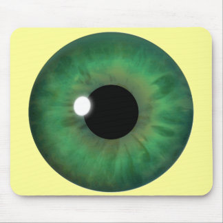 Grünes Augen-Iris kundenspezifisches cooles Mousepads