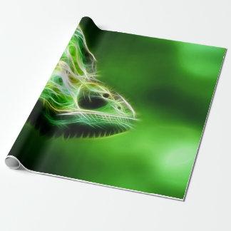 Grünes Augen-Limone grüne Eidechse Geschenkpapier