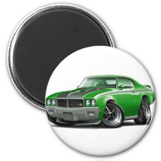 Grünes Auto 1970 Buicks GSX Runder Magnet 5,7 Cm