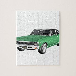 Grünes Auto des Muskel-1968 Puzzle