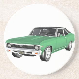 Grünes Auto des Muskel-1968 Untersetzer