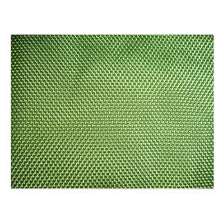 Grünes ballistisches Nylon Postkarten