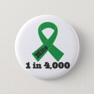 Grünes Band-Bewusstsein 1 Mito in 4000 Runder Button 5,7 Cm