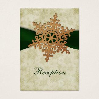 Grünes Band, rustikale Schneeflocke Visitenkarte