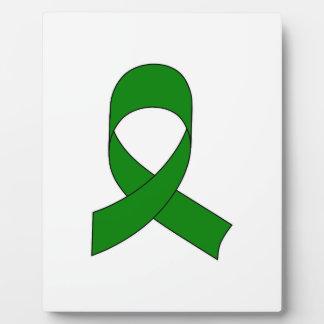 Grünes Band-Zeichnen Fotoplatte