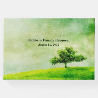 Grünes Baum-Familien-Wiedersehen-Gast-Buch Gästebuch