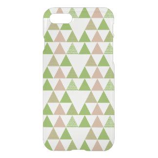 Grünes Baum-Kohl-Grün-Dreieck-geometrisches Mosaik iPhone 8/7 Hülle
