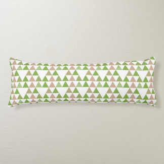 Grünes Baum-Kohl-Grün-Dreieck-geometrisches Mosaik Seitenschläferkissen