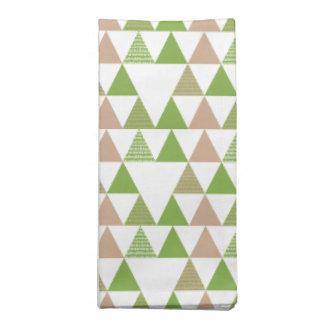 Grünes Baum-Kohl-Grün-Dreieck-geometrisches Mosaik Serviette