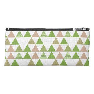 Grünes Baum-Kohl-Grün-Dreieck-geometrisches Mosaik Stiftetasche