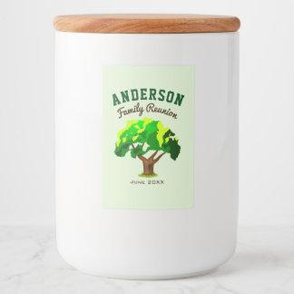 Grünes Baum-Name-Familien-Wiedersehen Lebensmitteletikett