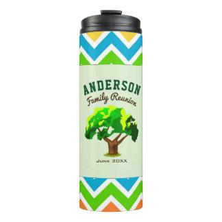 Grünes Baum-Name-Familien-Wiedersehen Thermosbecher
