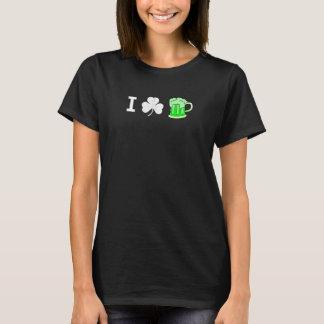 Grünes Bier des Kleeblatts I der Frauen T-Shirt