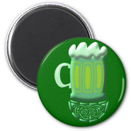 grünes Bier green Beer St. Patrick Irland Ireland Magnete