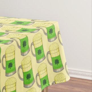 Grünes Bier-irischen Kleeblatt-St Patrick Tag Tischdecke