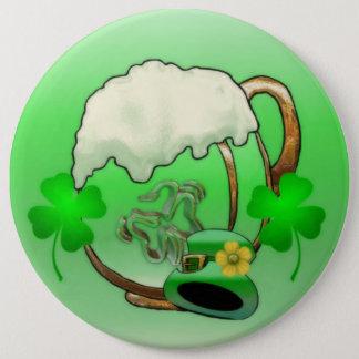 Grünes Bier Runder Button 15,3 Cm