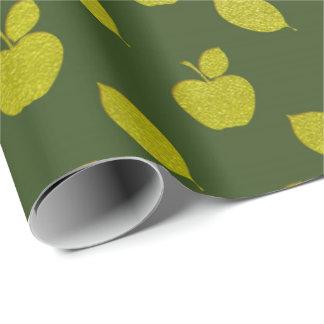 Grünes Blatt Cali metallische Apple Frucht-Folie Geschenkpapier