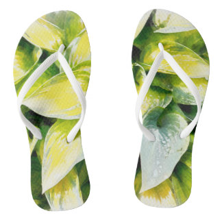 Grünes Blatt Flip Flops