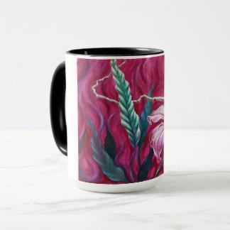 Grünes Blatt-heiße Tasse