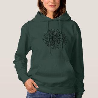 Grünes Blatt-Sweatshirt Hoodie