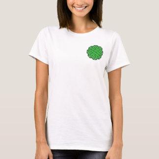 Grünes Blumen-Band T-Shirt