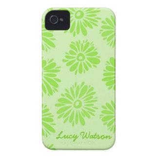 Grünes Blumen-BlackBerry-mutiger Kasten iPhone 4 Hüllen