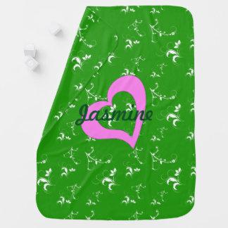 Grünes Blumen der Babyparty Babydecke