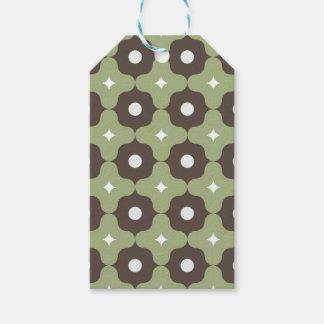 Grünes Blumen-Muster Geschenkanhänger